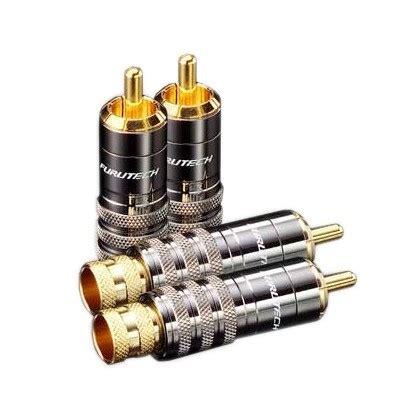 Rca Gold Set 436 furutech fp 104 g cinch rca gold plated 216 8 3mm set x4 audiophonics