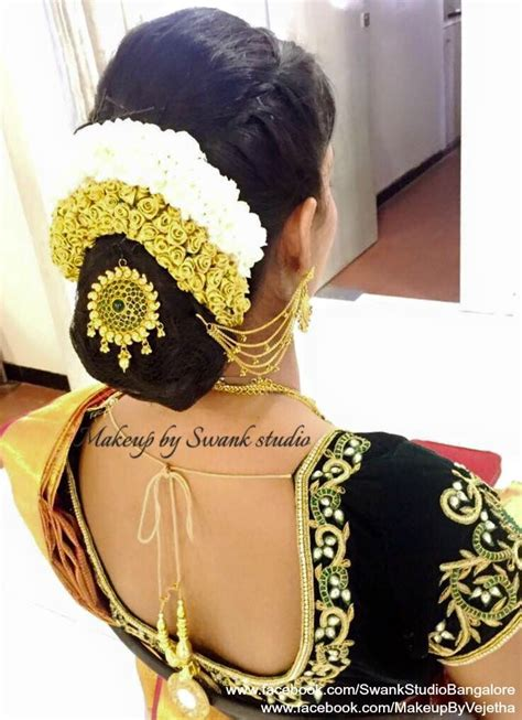 Hairstyle Bun Accessories by Wedding Hairstyle Inspiration Hair Bun Accessory Saree