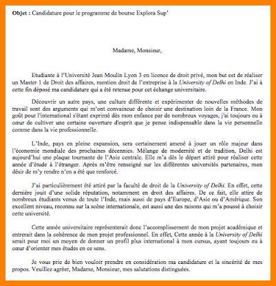Exemple De Lettre Demande De Bourse étudiant lettre motivation bourse lettre de motivation 2018