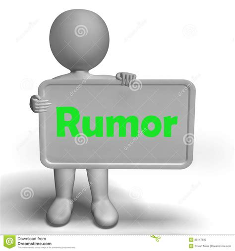 gossip similar meaning rumor sign means spreading false information stock