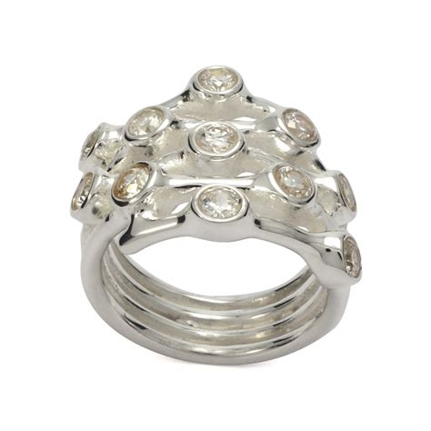 large cz silver ring silver jewellery ireland