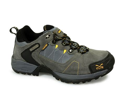 walking shoes hi tec buxton mens v lite waterproof walking shoes grey