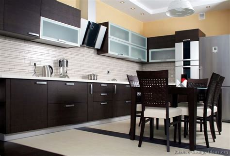 modern kitchen dark cabinets pictures of kitchens modern dark wood kitchens