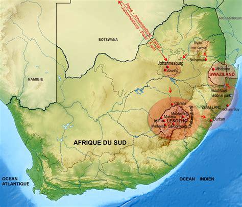 Drakensberg carte Arts et Voyages
