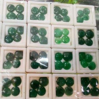 Set Perhiasan Emas Berlian With Emerald Zamrud Columbia pernak pernik dan batu permata martapura batu giok
