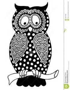 origineel kunstwerk van uil tekening van inkthand binnen vector illustratie afbeelding
