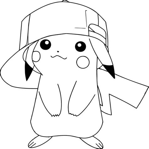 fotos de dibujos para dibujar fotos presupuesto e imagenes dibujo pikachu gorra sonriente imprimir colorear 918 195 959