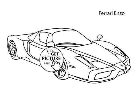 superhero cars coloring pages super car ferrari enzo coloring page cool car printable