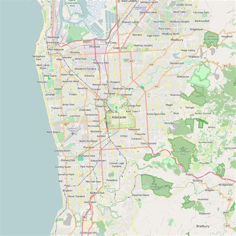printable map adelaide suburbs editable city map of adelaide map illustrators