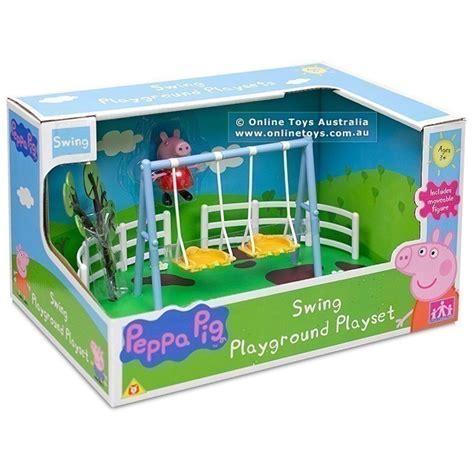 Peppa Pig Swing - peppa pig playground playset swing toys australia