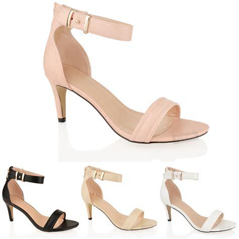 mid heel sandals with ankle womens mid heel ankle wedding zip