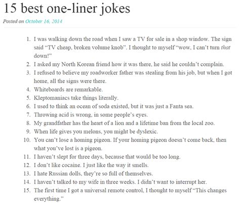 printable one liner jokes 15 best one liner jokes funny stuff pinterest one