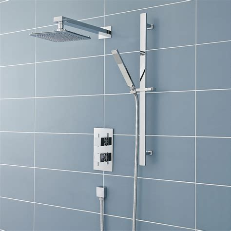 Rail Shower by Ultra Pioneer Square Shower Valve With Diverter