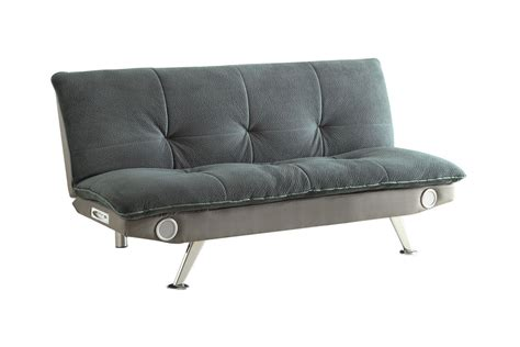 Grey Futon by Grey Futon With Built In Bluetooth Speakers 500046