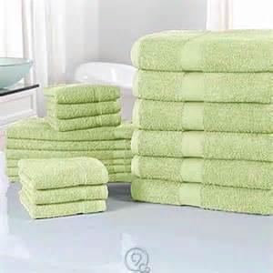 lime green bath towel set cozelle ultra absorbent 100 cotton 18 towel set