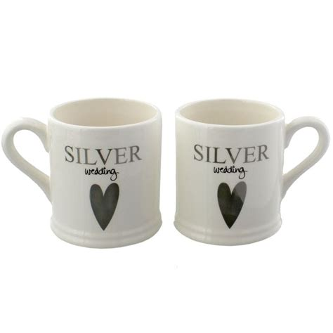 Find Wedding Gifts by Silver Wedding Mug Gift Set Find Me A Gift