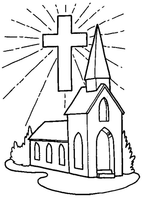 Coloring Pages For Church church color pages coloring home