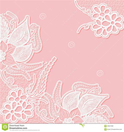 vector pattern for wedding invitation lace background with space for text template wedding