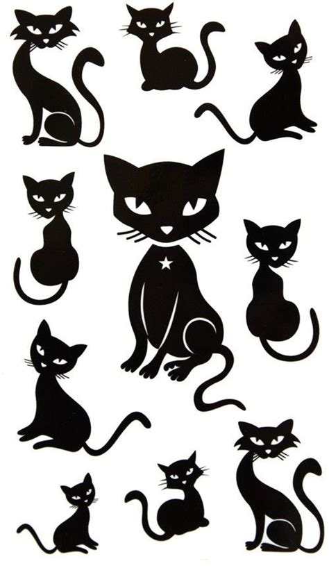 tattoo black cat silhouette black cat tattoo ideas fun stuff pinterest kitty