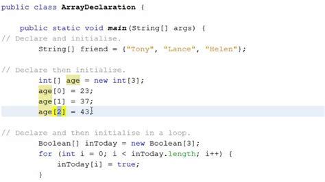 tutorial java array java using arrays youtube