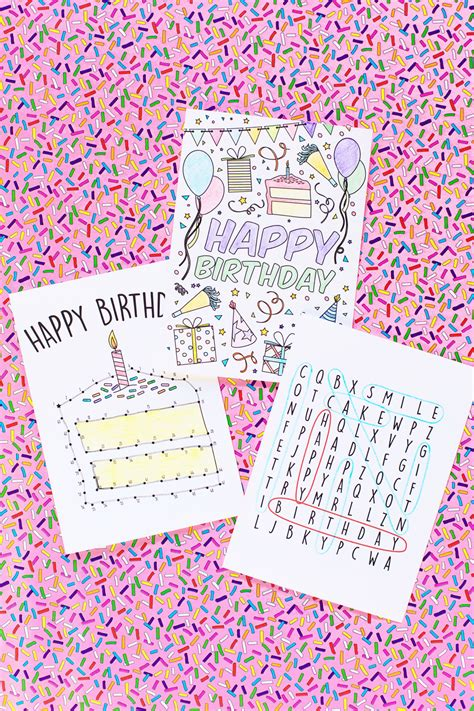 printable birthday cards diy free printable birthday cards for kids studio diy