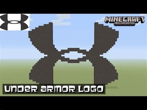 minecraft tutorial world logo how to draw an under armour symbol