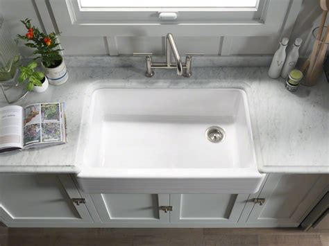 Kitchen Faucets For Farm Sinks Sinks Extraordinary Kohler Farm Sinks Kohler Farm Sinks Kitchen Sink Single Sink Gray Wall And