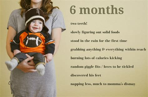 6 Month Birthday Quotes Six Months Old Where My Heart Resides