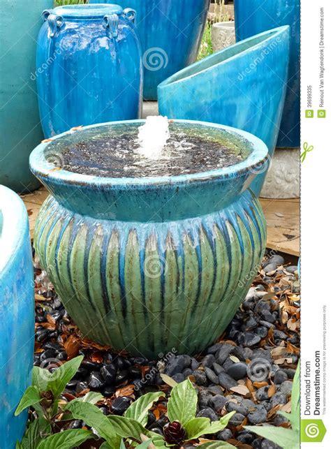Blue Garden Pots Garden Pots And Stock Photo Image 39699335