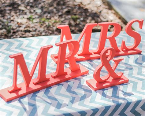 Mr And Mrs Table Sign by Chandeliers Pendant Lights
