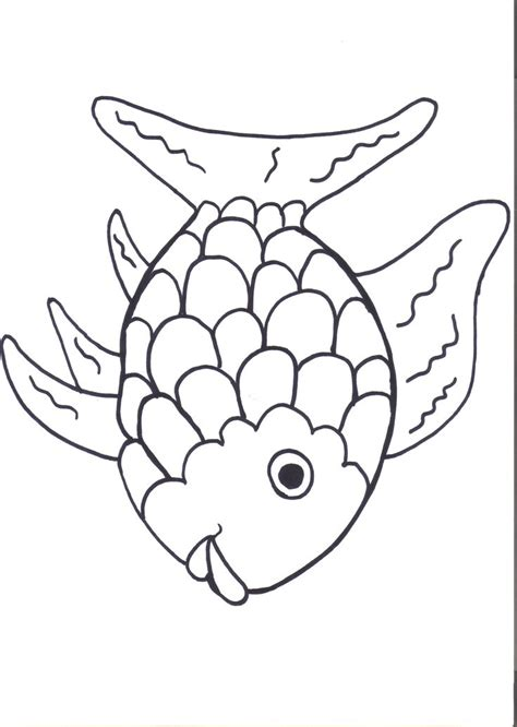 rainbow fish colouring template rainbow fish template coloring home