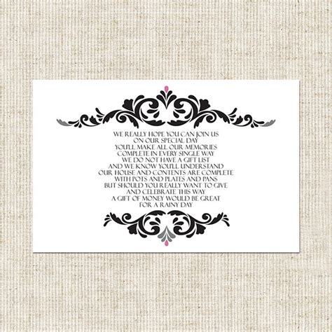 Poem For Gift Card - wedding gift card poems imbusy for
