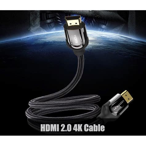 Vention Kabel Hdmi Ke 2 0 4k 60 Fps 300 Cm Hitam vention kabel hdmi ke hdmi 2 0 4k 60 fps 3m black