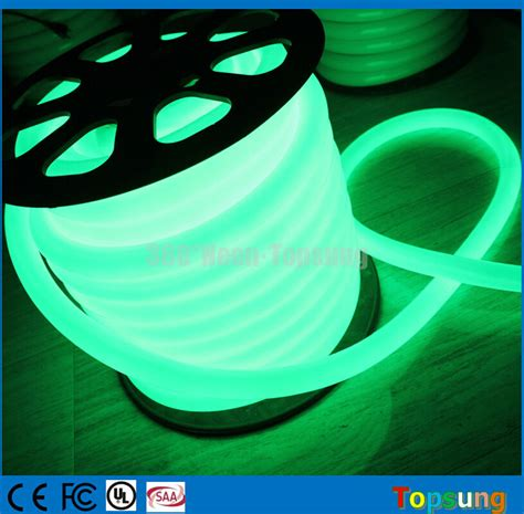 30m spool green 24v 360 degree led neon rope light for let
