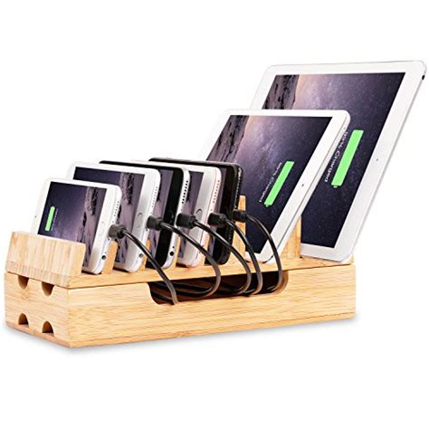 charging station organizer for multiple devices charging station levin eco friendly bamboo charging