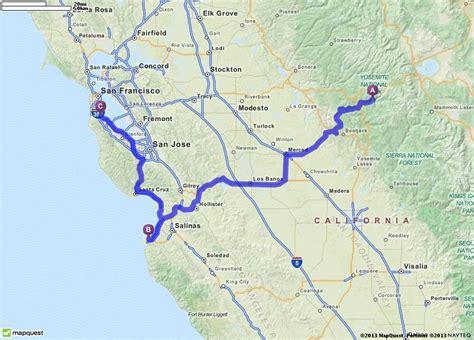 map san francisco to yosemite national park driving directions from yosemite national park in el