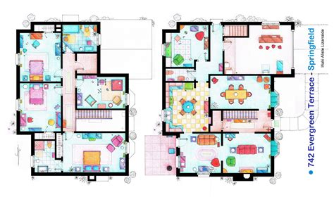 The Simpsons Floor Plan by The Simpsons House Blueprint 03 Fng Magazine