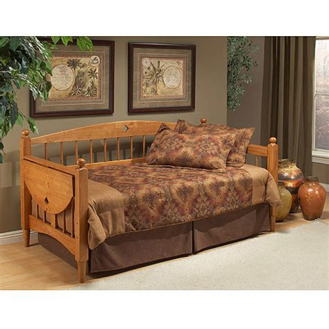 wood day bed hillsdale furniture dalton twin wood daybed with tray oak