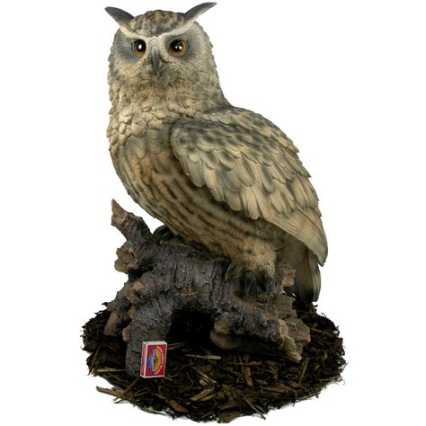 eagle owl resin garden ornament 163 121 59 garden4less