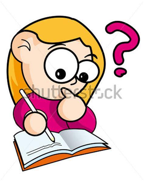 imagenes de tareas virtuales cartoon meisje met boek 195 162 194 226 vectorillustratie clip