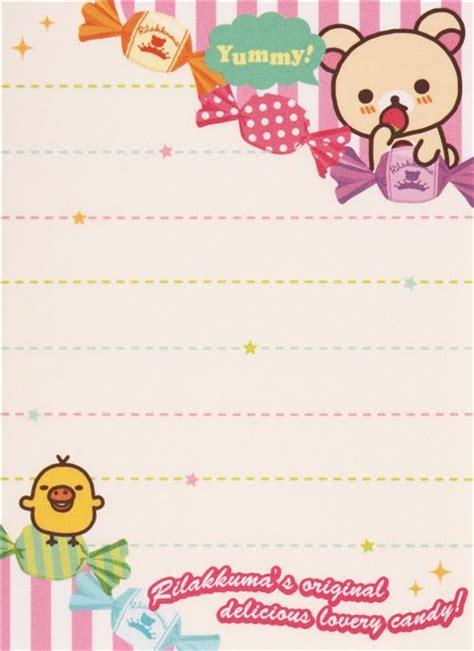 Memopad Nota Mini Nota Burger rilakkuma rilakkumarket fruit mini note pad san x 5 diy kawaii