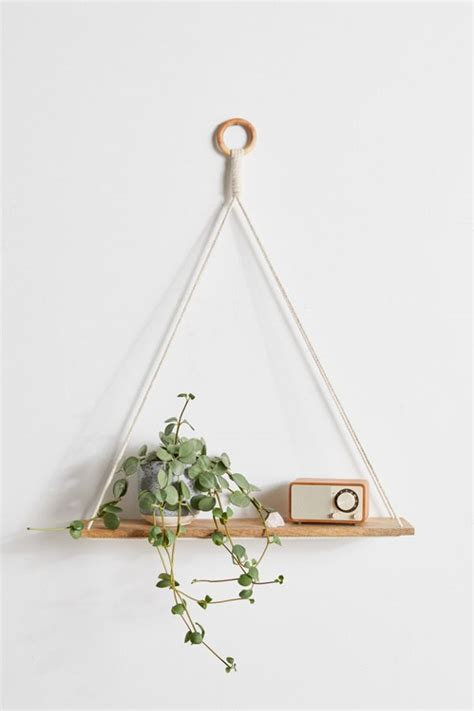 Elie Macrame Hanging Shelf Urban Outfitters