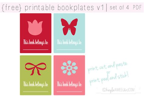 label design book printable bookplates tip junkie