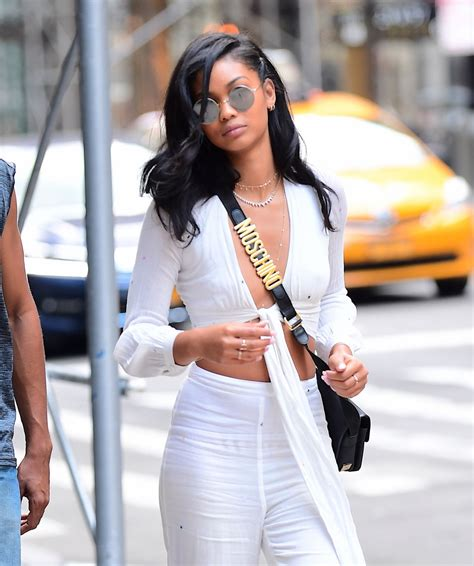 chanel iman home chanel iman street fashion out in ny 08 19 2017