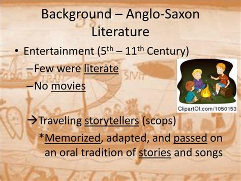 themes in anglo saxon literature ppt unit 1 from legend to history ad 449 1485