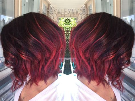 over forty hairstyles with ombre color 25 best ideas about red bob hair on pinterest short red
