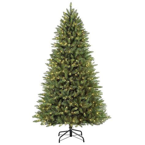 home depot garden club fraser fir 7 5 tree decoration artificial pre lit slim fraser fir clear lights 804606703804 ebay