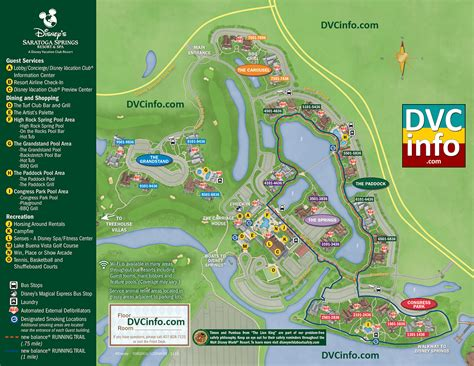 Disney Vacation Club Saratoga Springs Floor Plans - disney saratoga springs treehouse villa floor plan