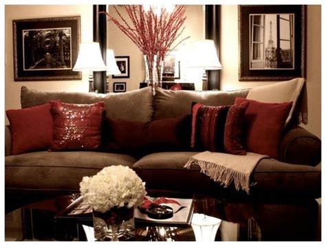 brown and red living room 17 best ideas about burgundy decor on pinterest