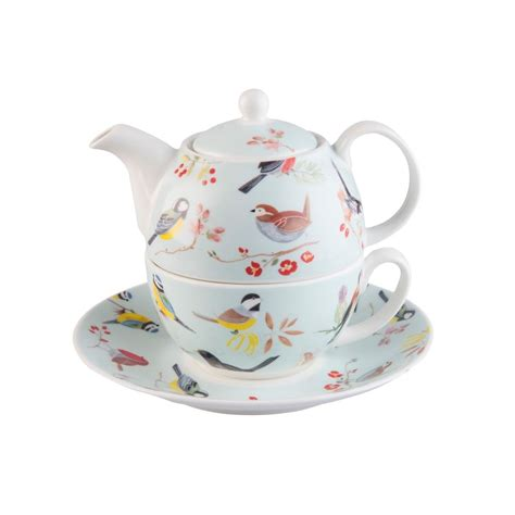roy kirkham rspb birdsong tea for one teapot cup and